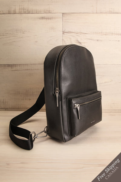 Voasa Black Vegan Leather Backpack | La Petite Garçonne Chpt. 2 1