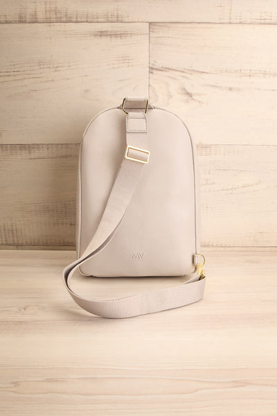 Voasa Grey Vegan Leather Backpack | La petite garçonne back view