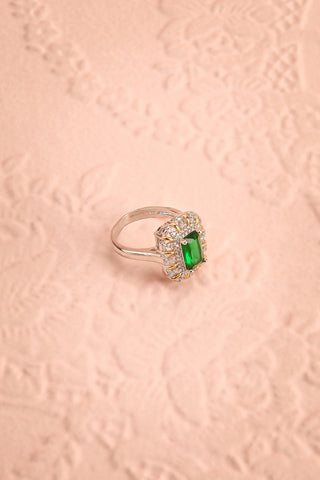 Volsella Emerald Gem Set in Silver Statement Ring | Boutique 1861 1