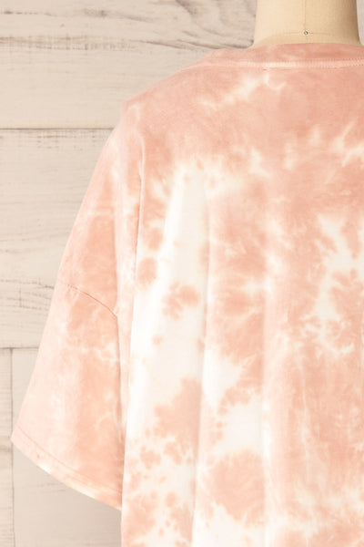 Vonna Pink Tie-Dye Oversized T-Shirt | La petite garçonne back close-up