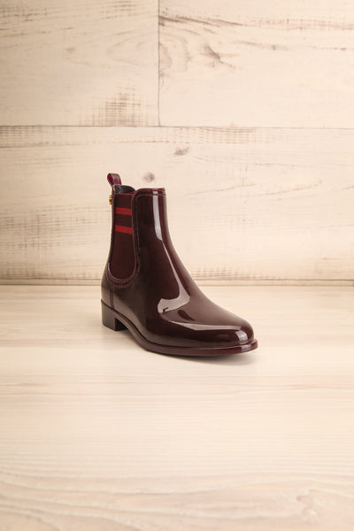 Wailea Wine Red Boots | Bottines | La Petite Garçonne Chpt. 2 front view