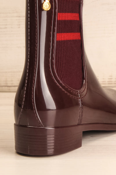 Wailea Wine Red Boots | Bottines | La Petite Garçonne Chpt. 2 back close-up
