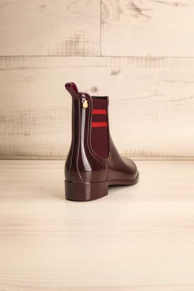 Wailea Wine Red Boots | Bottines | La Petite Garçonne Chpt. 2 back view