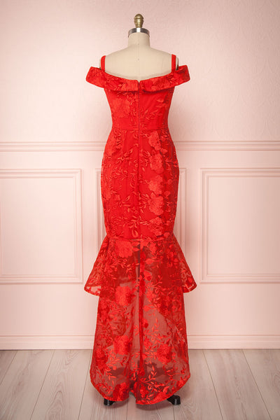 Waris Red | Mermaid Dress