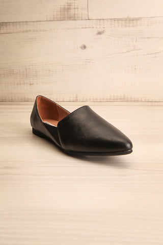 Westmount Black Matt & Nat Slip-On Flats front view | La Petite Garçonne