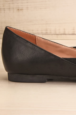 Westmount Black Matt & Nat Slip-On Flats side close-up | La Petite Garçonne