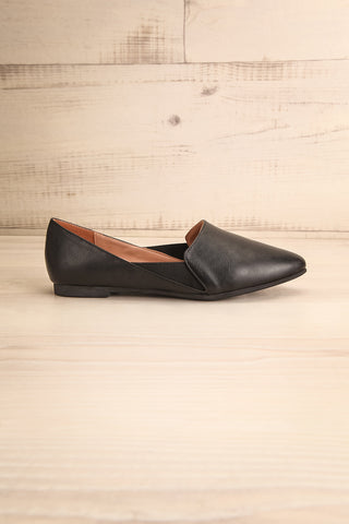 Westmount Black Matt & Nat Slip-On Flats side view | La Petite Garçonne