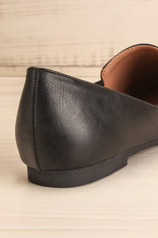 Westmount Black Matt & Nat Slip-On Flats back close-up | La Petite Garçonne