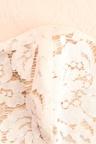 White Lacy Face Mask Floral | Boutique 1861 fabric