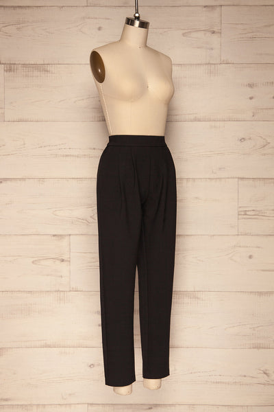 Wynne Coal Black High Waist Pants | La petite garçonne  side view
