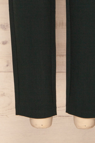 Wynne Emerald Green High Waist Pants | La petite garçonne bottom close-up