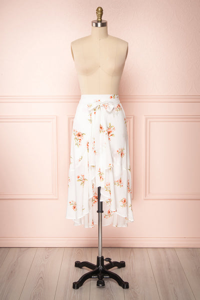 Yatomi White Floral Wrap Skirt | Boutique 1861 1