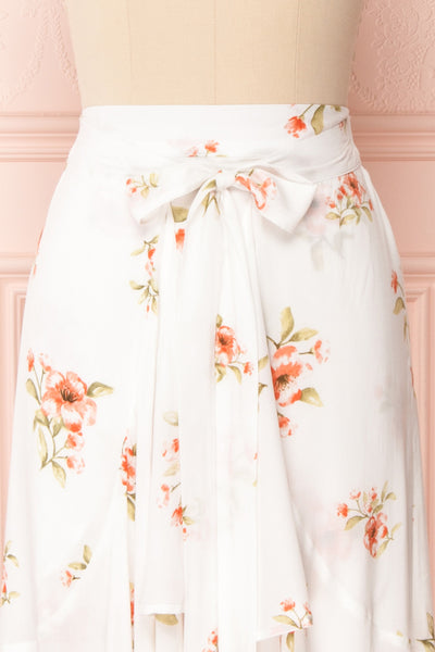 Yatomi White Floral Wrap Skirt | Boutique 1861 3