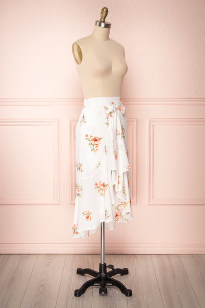 Yatomi White Floral Wrap Skirt | Boutique 1861 4