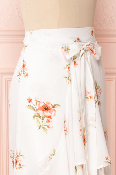Yatomi White Floral Wrap Skirt | Boutique 1861 5