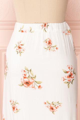 Yatomi White Floral Wrap Skirt | Boutique 1861 7