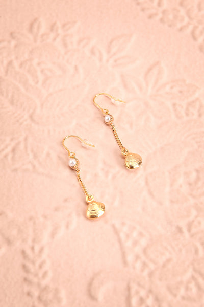 Yayi Bayam Diouf Gold Seashell Pendant Earrings | Boutique 1861