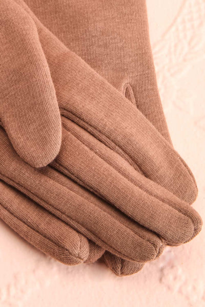 Zhukovsky Taupe Faux-Fur Lined Gloves with Buttons | Boutique 1861 3