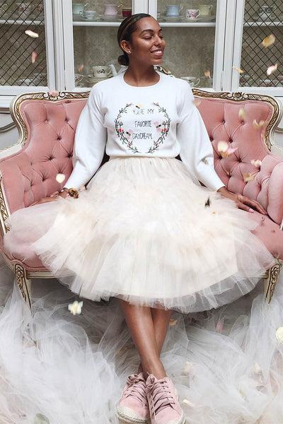 Ziska Day Cream Layered Tulle A-Line Skirt | Boutique 1861 2