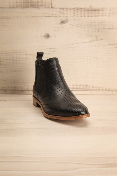 Zolar Black Leather Slip-On Ankle Boots | La Petite Garçonne Chpt. 2