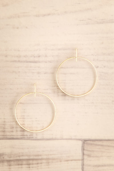 Zwolle Or Gold Dipped Hoop Earrings | La Petite Garçonne