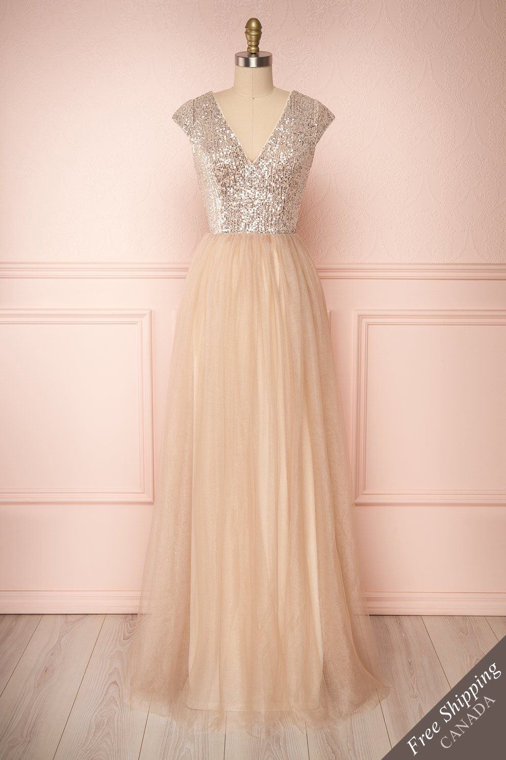 Rosina Sequins & Tulle Prom Dress