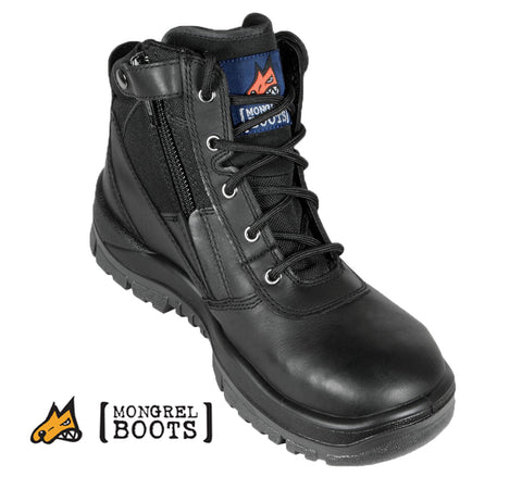 Mongrel 261020 Black ZipSider Safety Boot
