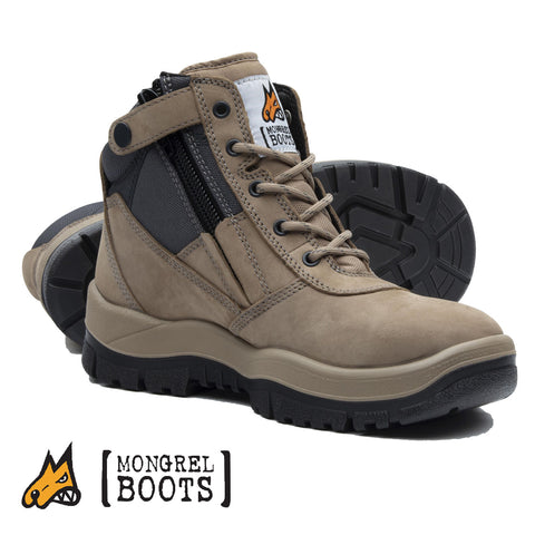 Mongrel 261060 Safety Boots - Zip Side