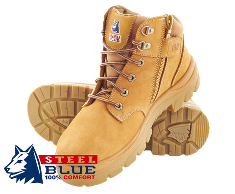 Steel Blue Safety Boots Parkes - Zip Side 312658
