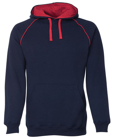 KIDS & ADULTS CONTRAST FLEECY HOODIE NAVY OPTIONS