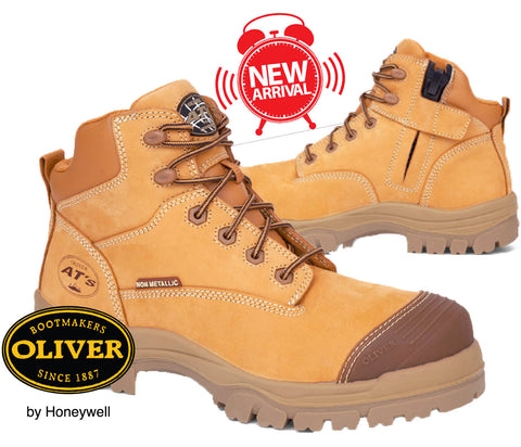 PRE ORDER Oliver 45630Z 130mm Wheat Non Metallic Zip Side Safety Hiker Boots
