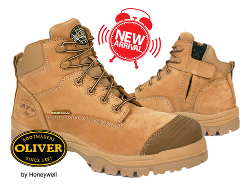 PRE-ORDER Oliver 45650Z 130mm Stone Non Metallic Zip Side Safety Hiker Boots