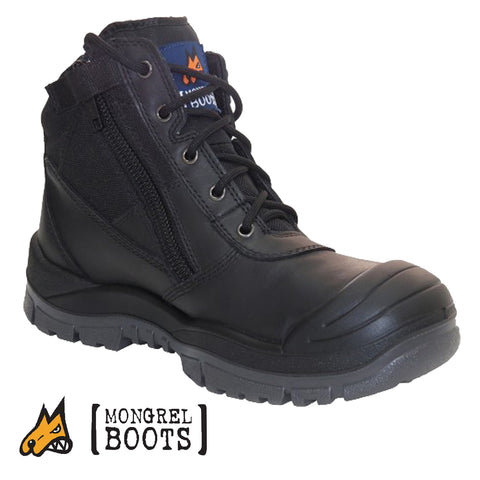 Mongrel 461020 Safety Boots - Zip Side with Scuff Cap