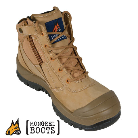 Mongrel 461050 Wheat ZipSider Boot - Scuff Cap Series