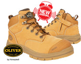PRE ORDER Oliver 55330Z 130mm Wheat Zip Side Safety Hiker Boots