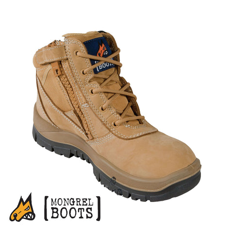 Mongrel 961050 Wheat ZipSider Boot - Non-Safety Series