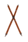 Berkeley Striped Cross Back Apron Suspenders
