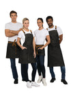Berkeley Black Bib Apron