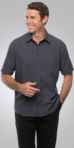 mens-ezlyn-short-sleeve-business-shirt-charcoal