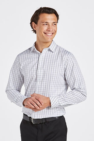BSCR3090-graph-navy-check-long-sleeve-business-shirt