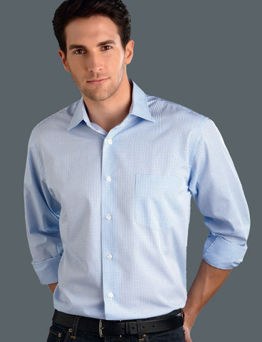 mens-jk-blue-mini-check-long-sleeve-shirt