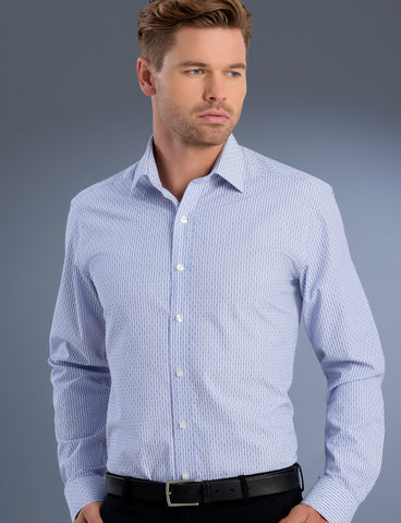 mens-dobby-stripe-slim-fit-long-sleeve-shirt-uv-fabric