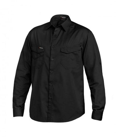 mens-tradie-long-sleeve-work-shirt-front-black