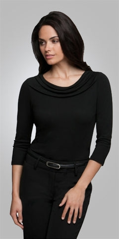 ladies-eva-knit-3q-sleeve-black