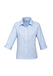 ladies-luxe-3-4-sleeve-lightblue-shirt