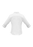 ladies-luxe-3-4-sleeve-white-shirt