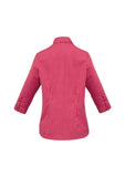 ladies-cuban-3-4-sleeve-red-back