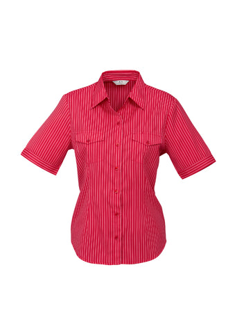 ladies-cuban-short-sleeve-shirt-red-front