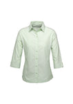 ambassador-3-4-sleeve-shirt-green-front