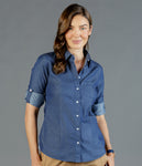 Ladies Wellington Long Sleeve Blouse